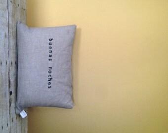 Lumbar Quote Pillow - All Natural Linen Pillow WITH Insert - Modern Heirloom