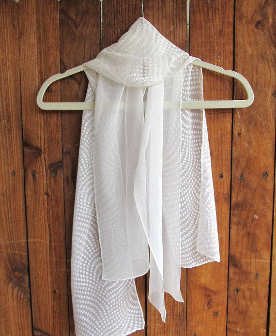items similar to painted white silk scarf solid