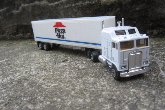 Toy Tractor Trailer Trucks : Small vintage toy truck pizza hut big rig semi tractor trailer