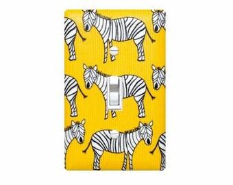 Zebra Light Switch Plate Cover / Baby Boy Nursery Decor / Boys Room Safari Bathroom
