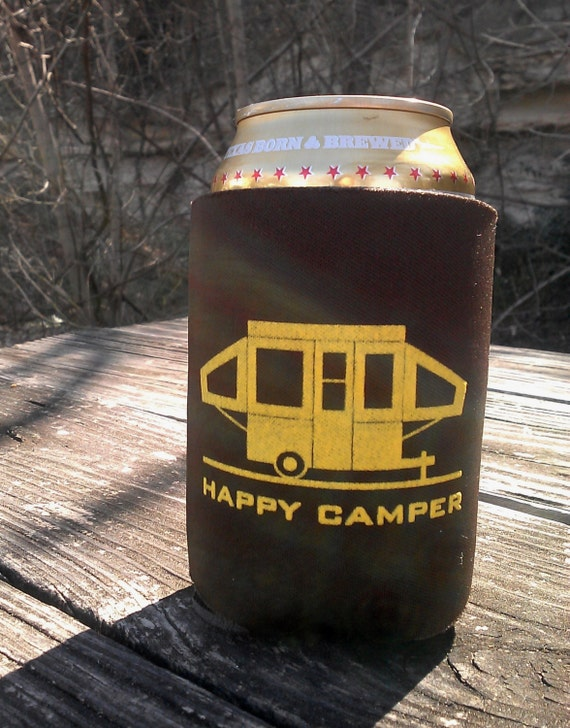 Happy Pop Up Camper Can Coolers - Set of 10