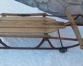 Skateboard Old School Sled Flexi Racer 1940s skateboard Yankee Clipper sled with wheels
