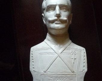 Vintage Pavlos Melas Bust Greek Hero Παύλος Μελάς Macedonia