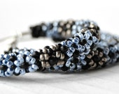 Silver seed beads earrings