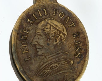 Antique/Vintage Religious Medal Leone XIII - Brass