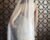 Pure Silk Luxury Soft Silk Veil Fingertip Cut Edge Soft Silk Tulle Bridal Veil by IHeartBride Silk Tulle Collection V-AS72 Dream Veil IV WH