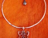 Brisingamen - The Phylactery of Freyja...OOAK Handmade Copper, Turquoise, Pyrite and Garnet Torc of Legend