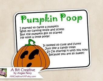 Pumpkin Poop Halloween Fall Autumn Candy Gag Gift Design - DIY Printable