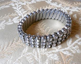 Vintage rhinestone bracelet.  British Hong Kong.
