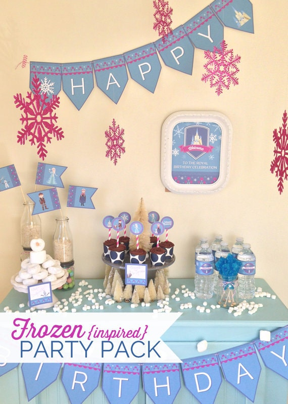 FROZEN {inspired} Party Pack  - Digital files - Party Supplies - INSTANT DOWNLOAD