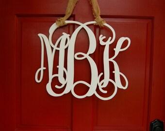 Personalized Monogram Door Hanger - Hanging Monogram Initials - Door Sign - Wall Decor - Graduation Gift - Dorm Decor - Wedding Gift