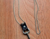 Vintage skeleton key necklace with bead