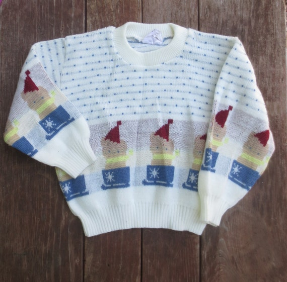Items similar to Vintage 70 s Baby Clothes Cat Sweater