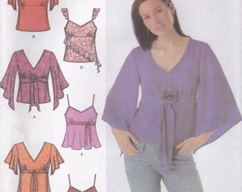 Pretty Summer Blouse Pattern Simplicity 4958 Sizes 4 6 8 10 Uncut