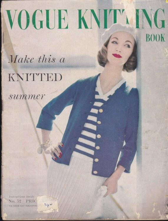 Vintage Knitting Books : Vintage s vogue knitting book