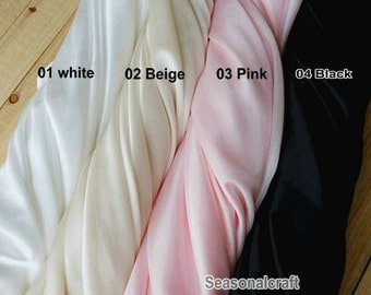 Lining Fabric, Lining Cloth fabric, Dress Lining, Polyester 12 Colors for choice, summer stretch 1 yard (W90)