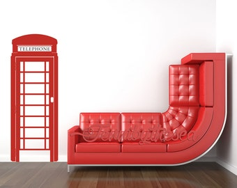 Wall Decal Vinyl Sticker Decals British Telephone booth wall art