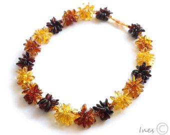 New Baltic Amber Original Flower Necklace