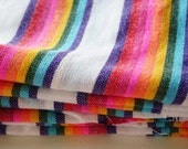 "White Striped Mexican Fabric 31"" width by one yard"
