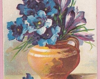 Ca. 1911 Victorian Embossed Birthday Greeting Postcard - 1414