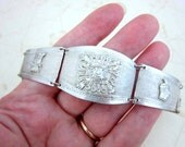 900 silver warrior graduating panel bracelet