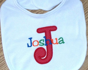 Baby Boy Bib Monogrammed Personalized Name