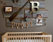 Primitive Burlap Name Baner Nursery Decor / Photography Prop