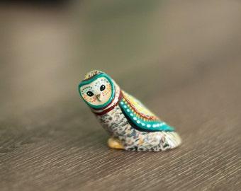 Barn Owl Study 1 / Owl Totem / Colorful / Geometric / Owl Figurine