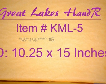 "4 KML-5, Self Sealing Kraft Bubble Cushioned Envelope Mailers, OD: 11.50"" X 15.50"""
