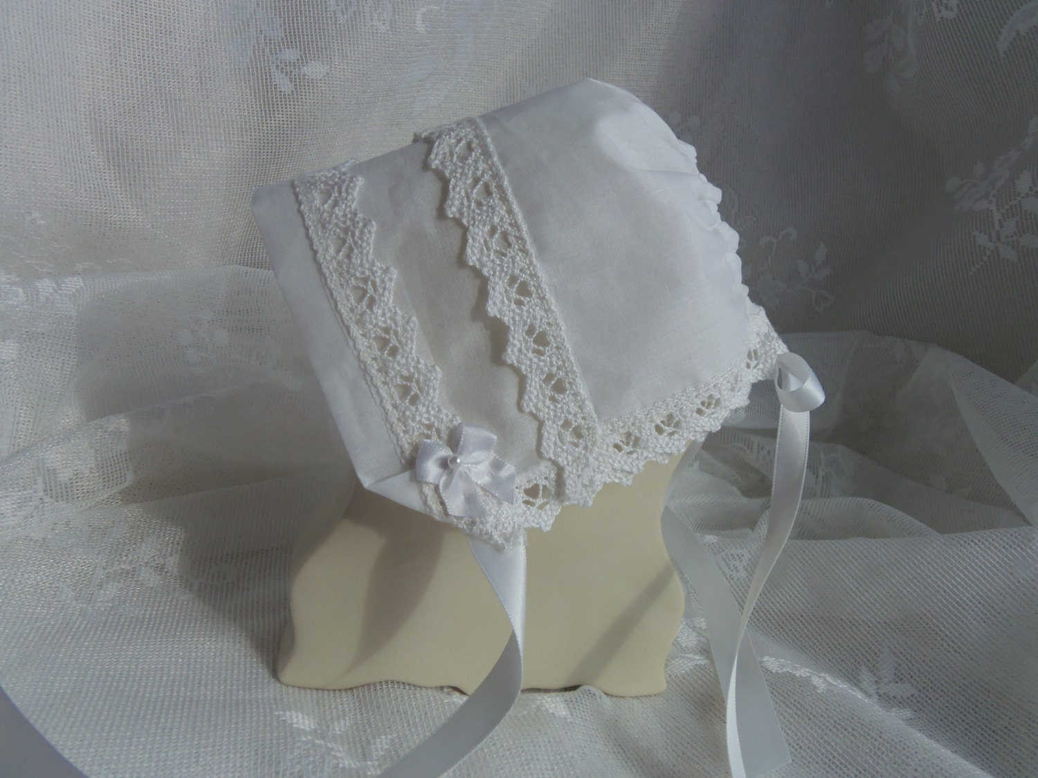 Handkerchief Baby Bonnet Heirloom Magic Hanky Bonnet Annabella