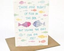 Love Fish - Greeting card