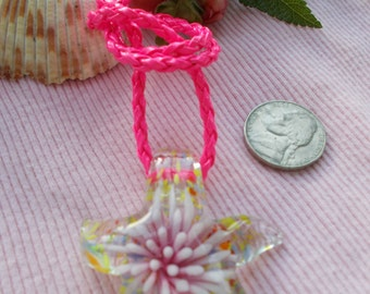 Hot Pink Starfish Necklace