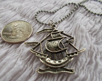 Pirate Ship Necklace