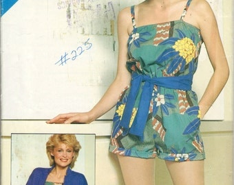 Butterick See & Sew 5156 sewing pattern // Misses' Jacket, Jumpsuit and Sash
