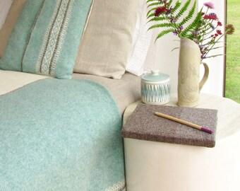 Knitted Fair Isle Cushion Pure Wool