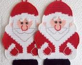 039 Santa Claus Crochet Pattern, Father Christmas, Father Frost, Decor or Potholder - by Zabelina Etsy