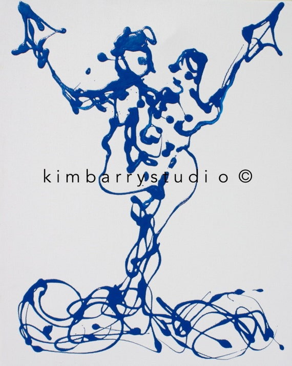 Kites - Digital Print -- Love, Figurative Abstract meets Expressionism  by Kim Barry Studio