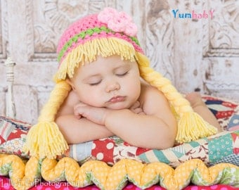Cabbage Patch Hat Baby Wig Hats for Kids Halloween Costume
