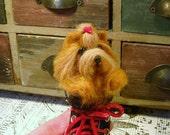 Yorkshire Terrier, Needle Felted Yorkshire Terrier, Handmade Yorkie in Sneaker