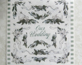 STICKERS / Wedding / Scroll Flower Theme in Vellum / 2 SHEETS