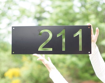 Mid Century Modern House Number / Modern House Number