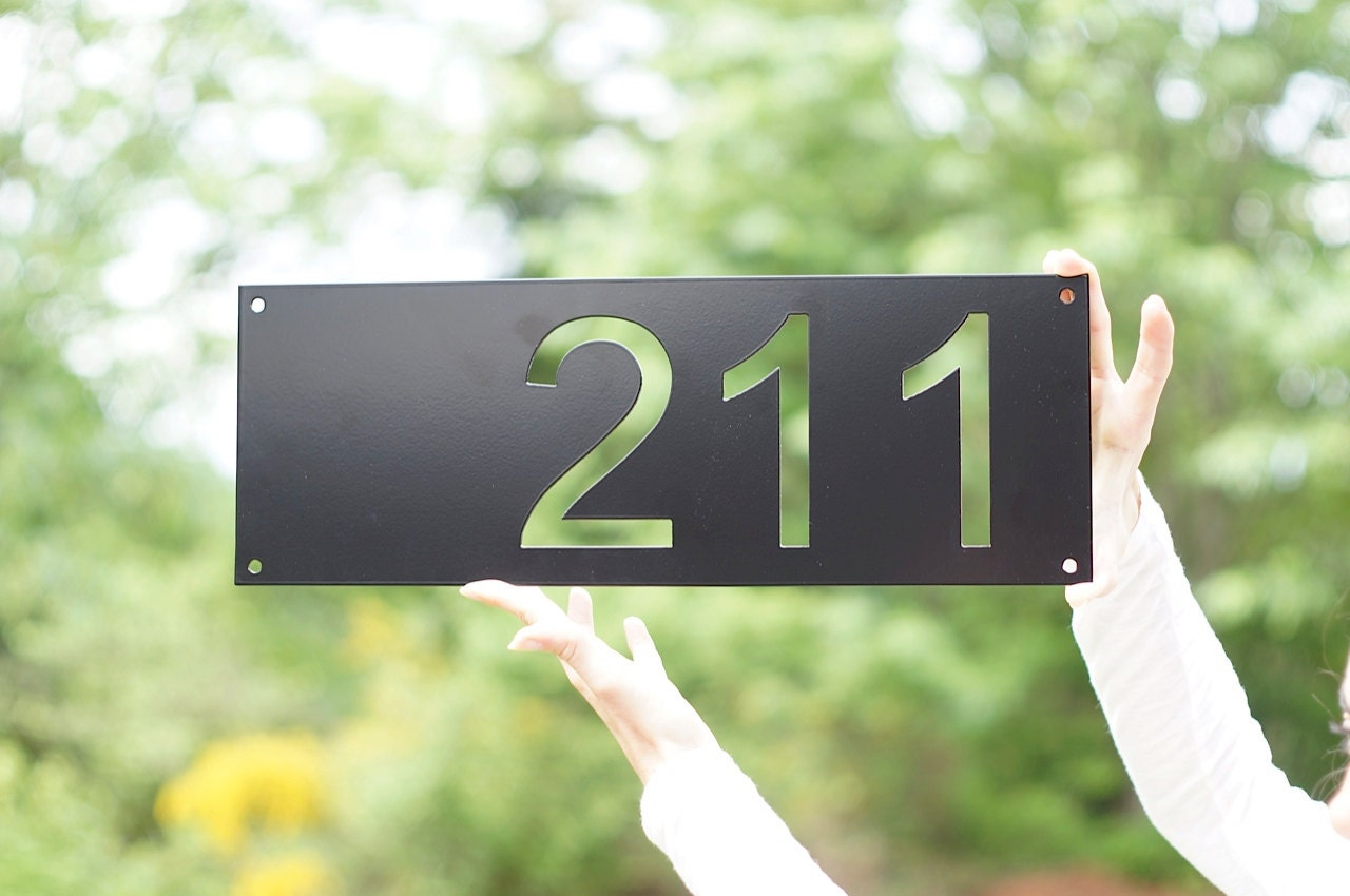 Modern House Numbers Mid Century Modern House Numbers