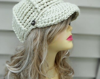 Newsboy Hat, Crochet Hat, Womens Hat,  Brim Hat, Womens Accessories Winter Hat Hair Accessories