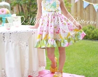 Millie's Flutter Dress PDF pattern instant download flutter dress pattern