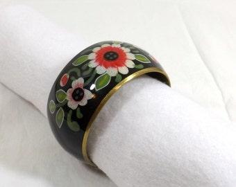 Painted Brass Bangle Bracelet