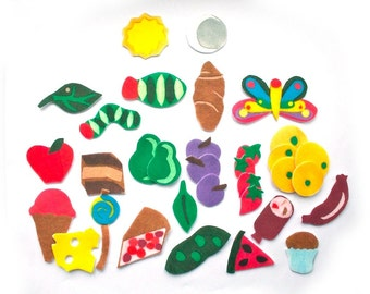 Educational Toy - Montessori Toy - The Very Hungry Caterpillar Felt Story for Flannel Board - Preschool Educational Toys for Kids