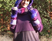 Purple Upcycled Hoodie (X-Large)