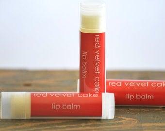 SALE - Red Velvet Cake Lip Balm - cake lip balm - bakery lip balm - sweet lip balm - chocolate cake lip balm