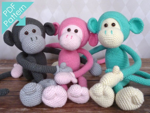 Mike the Monkey Amigurumi Crochet Pattern EN DK & NL by ...