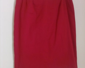80's Red Pencil Skirt Size 12